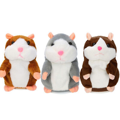Adorable Interesting Repeat Talking Record Hamster Mouse Plush Kids Toys Gifts P