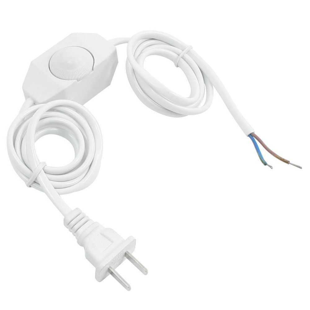 White Lamp Power Cord W Dimmer Switch Ac 250v 110v Us Plug Ls O1e4 10pcs Reed Switches Magic Induction No Nc Spdt Stock Photo