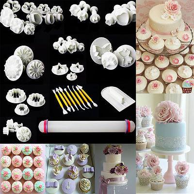 Set of 46, Cake Decorating Tools Craft Icing Cupcake Baking Modelling Sugarcraft