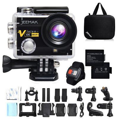 "JEEMAK ACT74R Sports Kamera Action Cam 4K WiFi FHD Wasserdichte 2.0"" LCD Display"