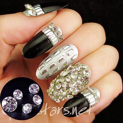 72pcs 3D Nail Art Sticker Dazzling Clear Crystal Rhinestones Nail