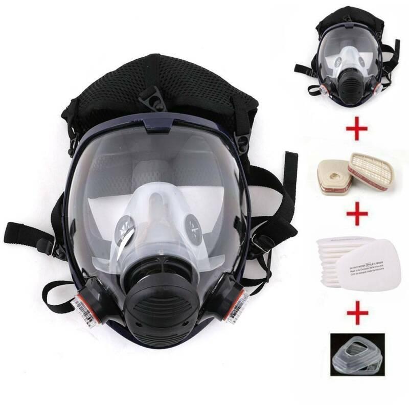 Staubdicht Maske Atemschutzmaske Vollmaske Silikon Gasmaske  Atemmaske DE