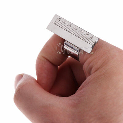 1pc Dental Endo Endodontic Stainless Steel Finger Rulers Endo Measuring Scale