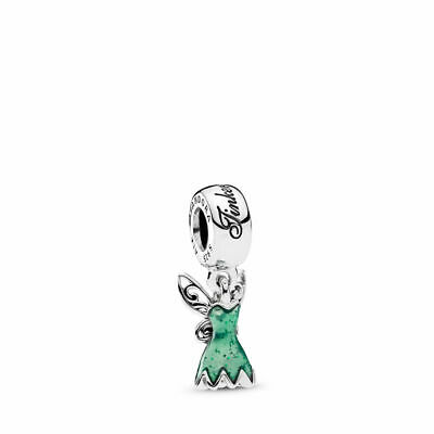 AUTHENTIC PANDORA Disney, Tinker Bell's Dress Dangle Charm, Glittering (Bell Dangle Charm)