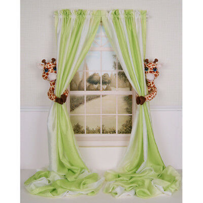 CURTAIN CRITTERS BABY NURSERY JUNGLE SAFARI ZOO GIRAFFE CURTAIN TIEBACK TOY SET!