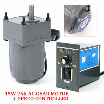110v 15w Ac Gear Motor Electric Variable Speed Reduction Controller Adjust Usa