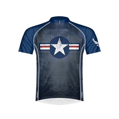 Primal Wear Men's US Air Force Throwback Bike Jersey - - Air Force Bike Jersey