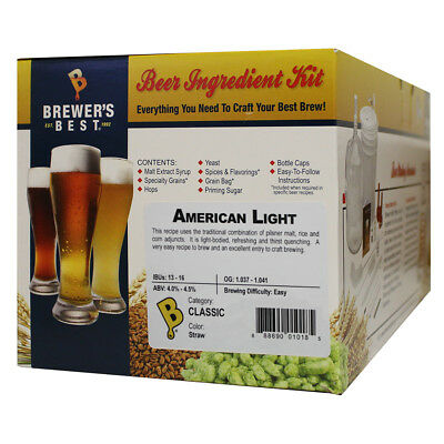 Brewers Best American Light Ingredient Kit for Home Brew Beer
