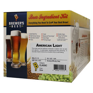 Brewers Best American Light Ingredient Kit for Home Brew Beer Making