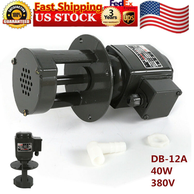 DB-12 Coolant Pump for Lathe Grinder & Mill,12 L/min,2860 r/min, 3 phase, 130mm