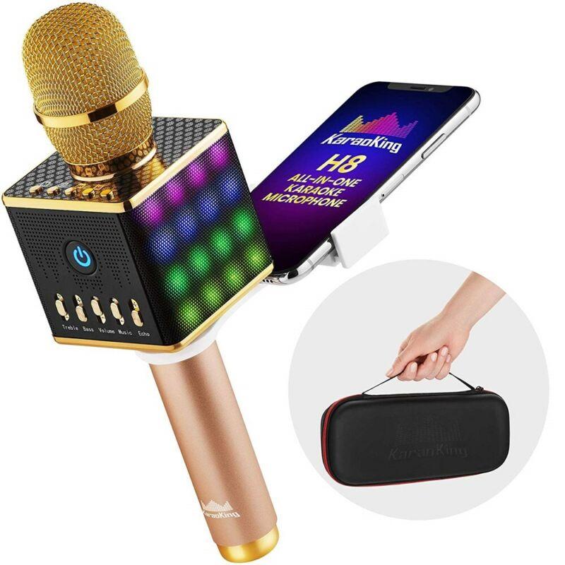 Portable Wireless Bluetooth Karaoke Microphone Speaker Phone Holder by KaraoKing