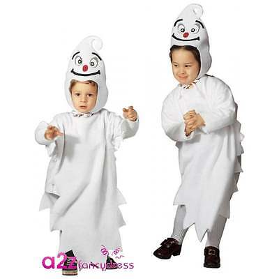 Kids Friendly Ghost Costume (Little Ghost Casper Friendly Ghost Toddler Kids Halloween Fancy Dress)