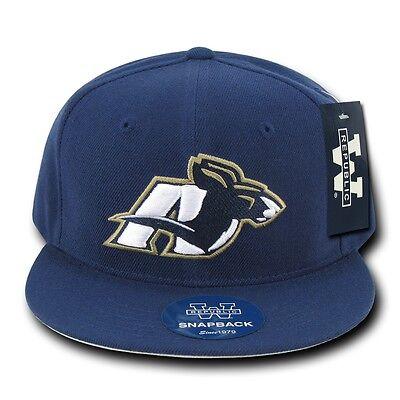 Navy Blue University of Akron UA Zips NCAA Flat Bill Snapback Baseball Cap Hat Akron Zips Ncaa Baseball