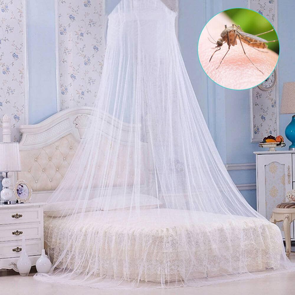 Weiß Moskitonetz Betthimmel Fliegennetz Mückennetz Baldachin Insektennetz Kinder