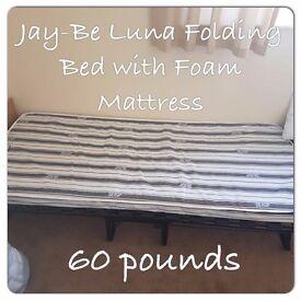 2 Jay-Be Luna Folding bed with foam Matress