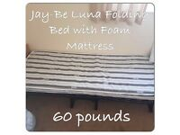 2 Jay-Be Luna Folding bed with foam Matress