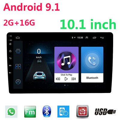Double 2Din 10 inch Android 9.1 Quad Core Car Radio In Dash Stereo GPS Wifi