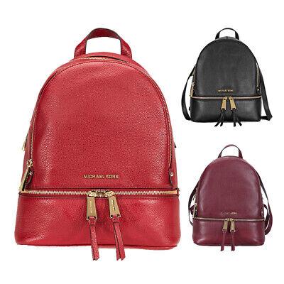 Michael Kors Rhea Medium Leather Backpack - Choose color