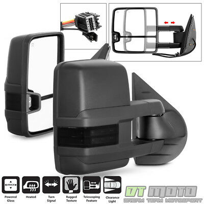 [2015 Style] 2007-13 Silverado Sierra Power+Heated+Smoke LED Signal Tow Mirrors
