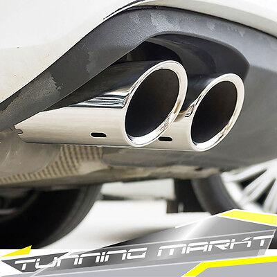 Edelstahl Auspuff Auspuffblenden Endrohre für AUDI TT TTS 8J od5