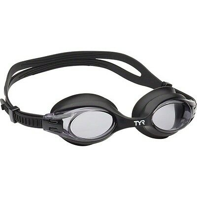 4d62608d38 TYR Big Swimple Adult-Sized Goggle-Black Frame Smoke Lens-New