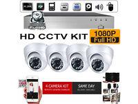 2TB 1080p Full HD CCTV Security Camera Kit. 4 x 1080p HD Cameras, 2TB 1080p HD DVR Recorder