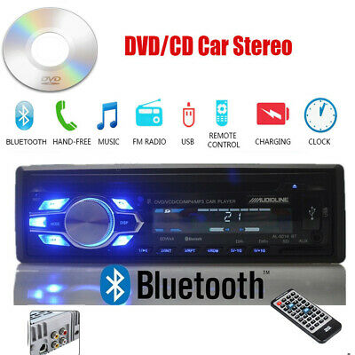 1 Din Autoradio DVD CD MP3 Lecteur 12V Stéréo USB/AUX/SD Bluetooth In-dash FM