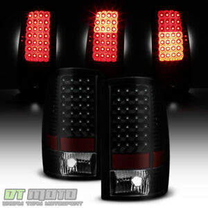 Black Smoke 2000-2006 Chevy Suburban 1500 2500 Tahoe Yukon LED Tail Lights Lamps