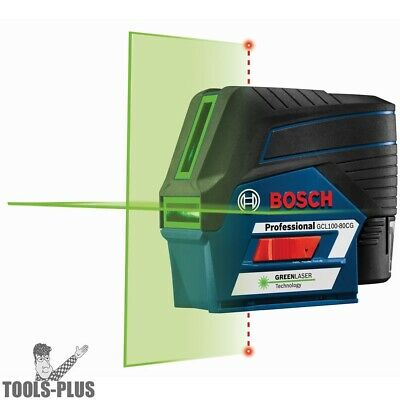 Bosch Gcl100-80cg-rt 12v Max Connected Green-beam Cross-line Laser W Plumb