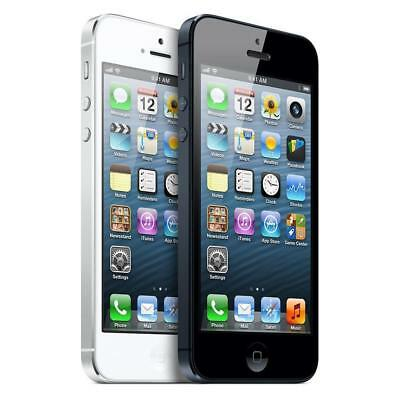 Apple iPhone 5 32GB Black White Smartphone GSM Unlocked T-Mobile AT&T       xzzz