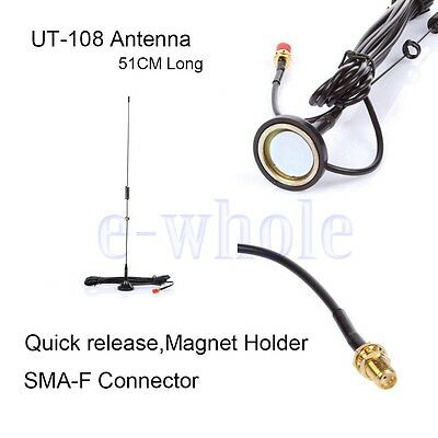 UT-108UV UHF+VHF Mobile Magnetisch Fahrzeug-montiert Antenne Zum Baofeng DL Uhf Mobile Antenne