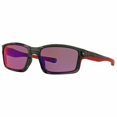 Oakley Chainlink Sunglasses Gray Smoke / Red Iridium Polarized Lens (Red Polarized Sunglasses)