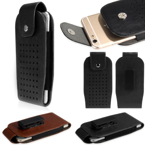 Vertical Leather Case Cover Pouch Holster w/ Belt Clip for iPhone 8/6s/7 Plus