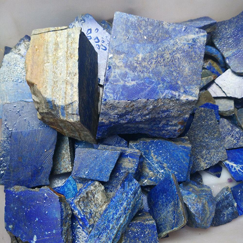 100g Natural Rough Afghanistan Lapis lazuli Crystal Raw Gemstone Mineral Stone L
