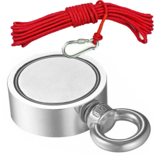 400-850LB Fishing Magnet Kit Strong Neodymium Pull Force Treasure Hunt With Rope For Sale - 2
