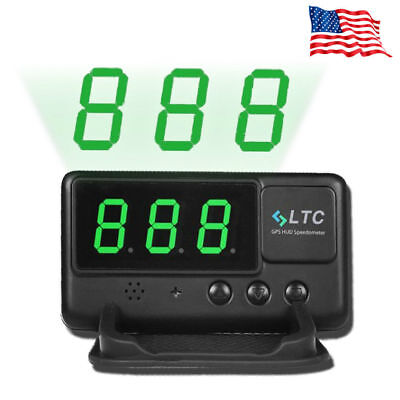 US Universal Car GPS Speedometer HUD Head Up Display MPH/KM/h Overspeed Alarm