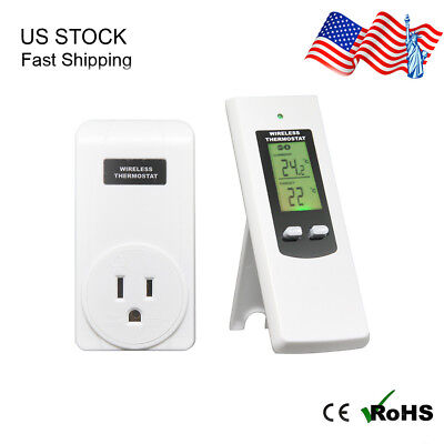 Wireless Temperature Controller Electric Outlet Thermostat with Remote Control