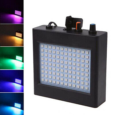RGB 108 LED Strobe Lights Auto Sound Activated DJ Party Light Disco Bulb+Remote,