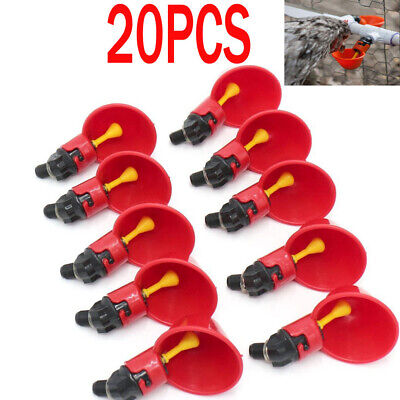 20 Pack Poultry Water Drinking Cups- Chicken Hen Plastic Automatic Drinker