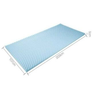 Gel Infused Egg Crate Mattress Topper  - King Single