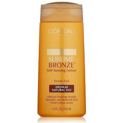 L'Oreal Paris Sublime Bronze Self-tanning Lotion, Medium ...