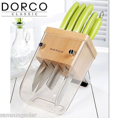 DORCO wooden knife rack/ wood  knife block / knife storage / knife holder