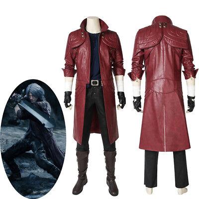 New Devil May Cry V DMC 5 Dante Cosplay Costume Red Leather Coat (Devil May Cry 5 Dante Cosplay Kostüm)