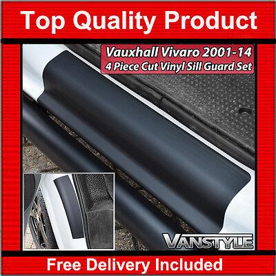 VAUXHALL VIVARO 01-14 4PCS VINYL DOOR ENTRY SET GUARD SILL PROTECTOR KICK PLATE