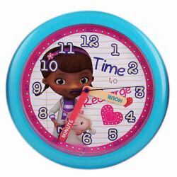 Children's 10 Round Wall Clock Disney Doc McStuffins NIP