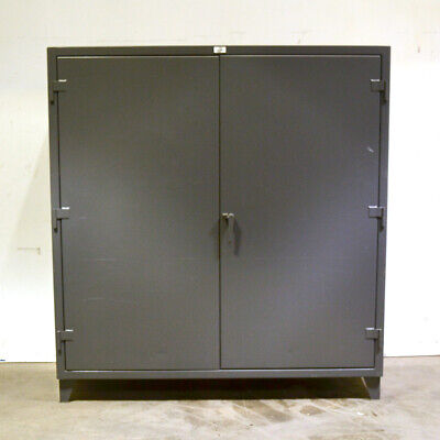 Strong Hold 66-244g 12-gauge 72x24x72 4-shelf 3-point Lock Industrial Cabinet