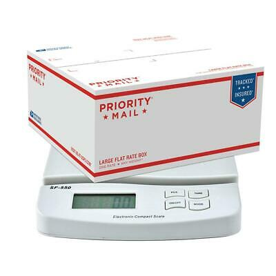 55lb X 0.1oz Digital Postal Shipping Scale Weight Postage Scalewhite 2xbattery