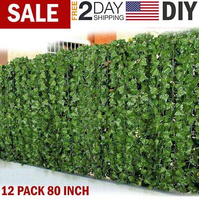 Fake Ivy Leaves (Artificial Hanging Plants Fake Flowers Leaves Long Green Silk Ivy Vine Garland)