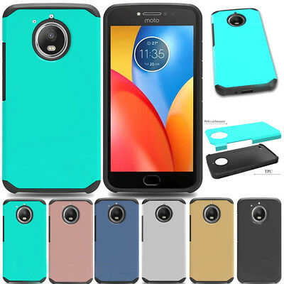 Shockproof Hybrid Hard Armor Case Back Phone Cover For Motorola Moto E4 Plus