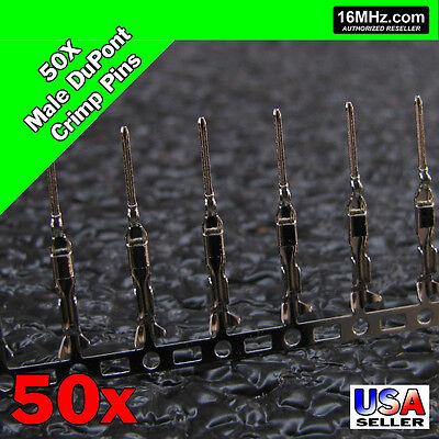 50x Dupont Jumper Wire Male Crimp Pin Header Connectors Us Seller 50pcs Q02